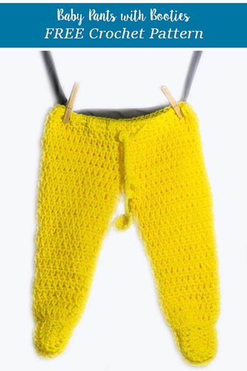 Crochet Footed Baby Pants Allfreecrochetcom