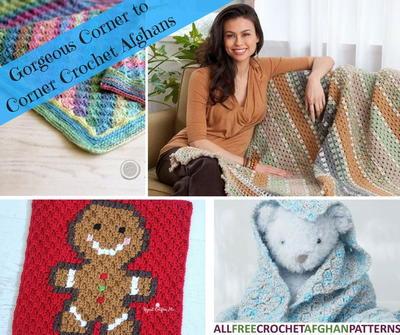 24 Gorgeous Corner to Corner Crochet Afghans