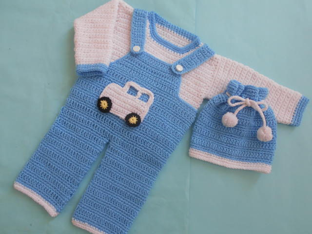 Boy Romper Set Allfreecrochet Com