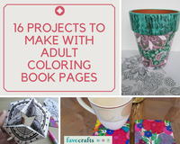 16 Projects to Make with Adult Coloring Book Pages