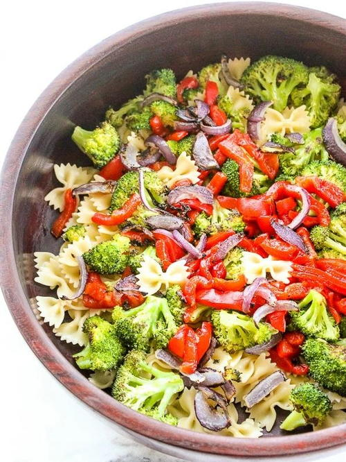 Roasted Broccoli Summer Pasta Salad | FaveSouthernRecipes.com