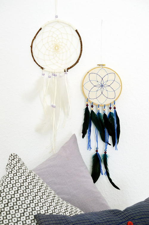 Eclectic Embroidery Hoop Dreamcatcher