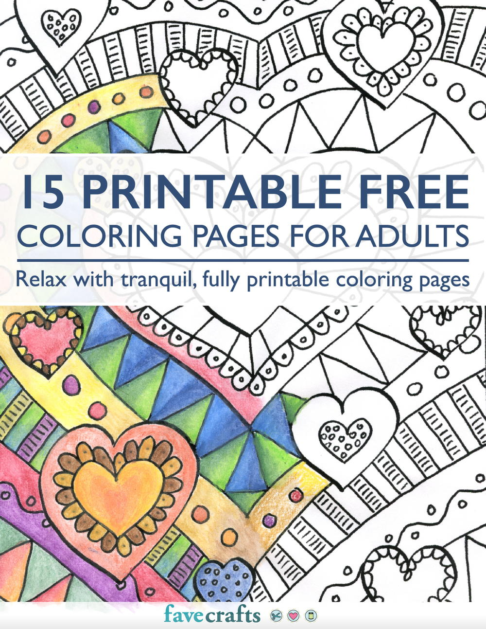 15 Printable Free Coloring Pages For Adults [PDF] FaveCrafts.com