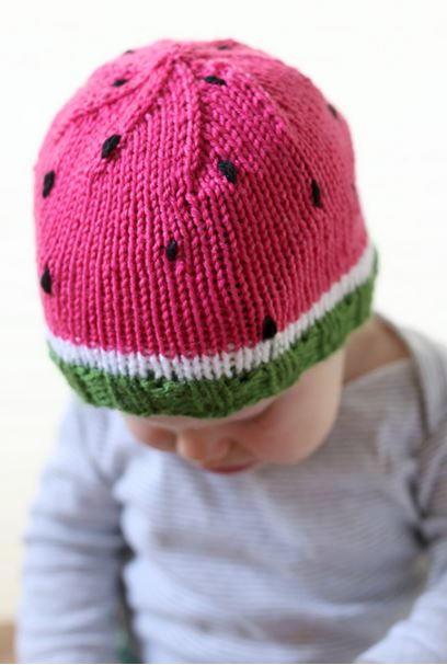 6cd9f8e6f Watermelon Baby Hat Pattern
