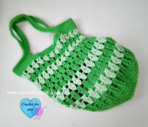 Crochet Grab Bag Pattern : Grab & Go Crochet Bag FaveCrafts.com