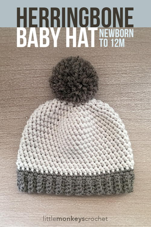 Herringbone Stitch Knit Hat Pattern : Herringbone Baby Hat AllFreeCrochet.com