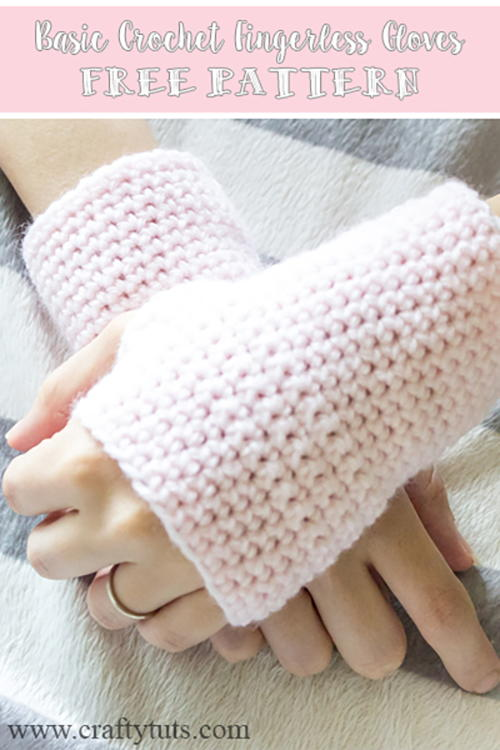 Basic Fingerless Gloves Allfreecrochetcom