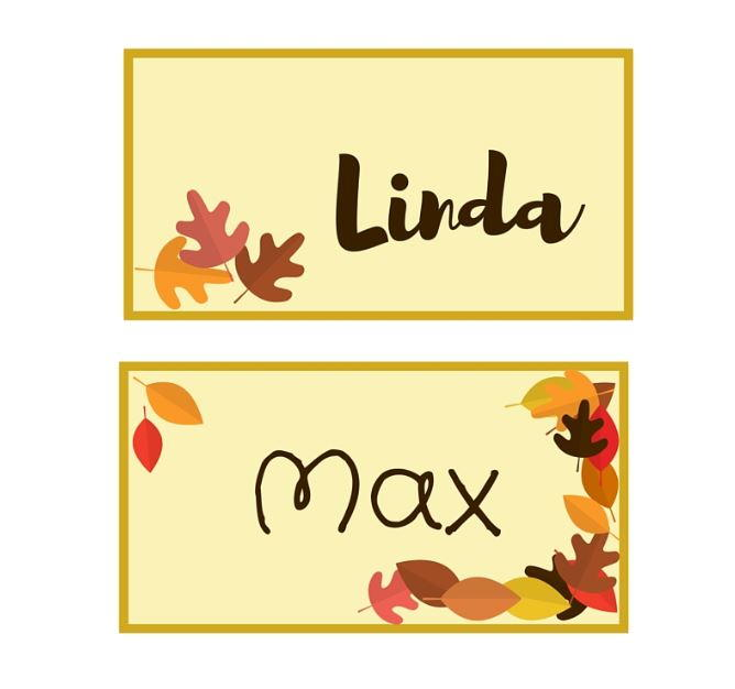 graphic relating to Thanksgiving Place Cards Printable identified as Autumn Leaf Printable Point Playing cards
