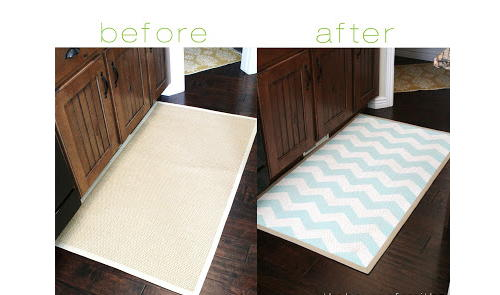 Chevron Painted Rug