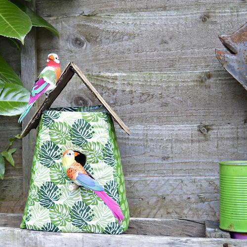 Tropical Fabric Birdhouse FaveCrafts.com
