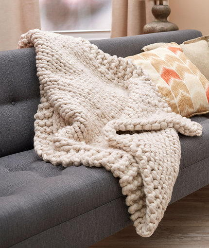 Wonderful Big Stitch Throw Allfreeknitting Com