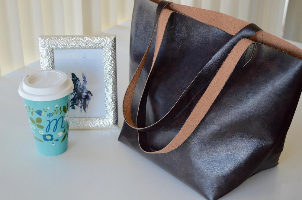 6a30a0d2 One Yard Leather Bag | AllFreeSewing.com