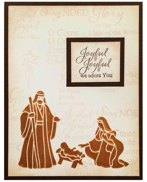 Handmade Religious Christmas Cards.Joseph And Mary Diy Christmas Card Allfreechristmascrafts Com
