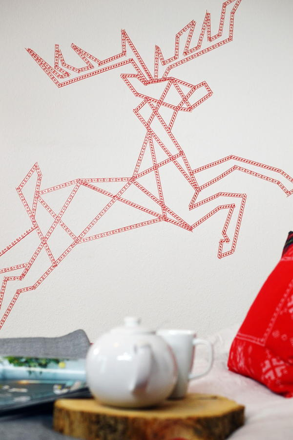 Reindeer Washi Wall Art