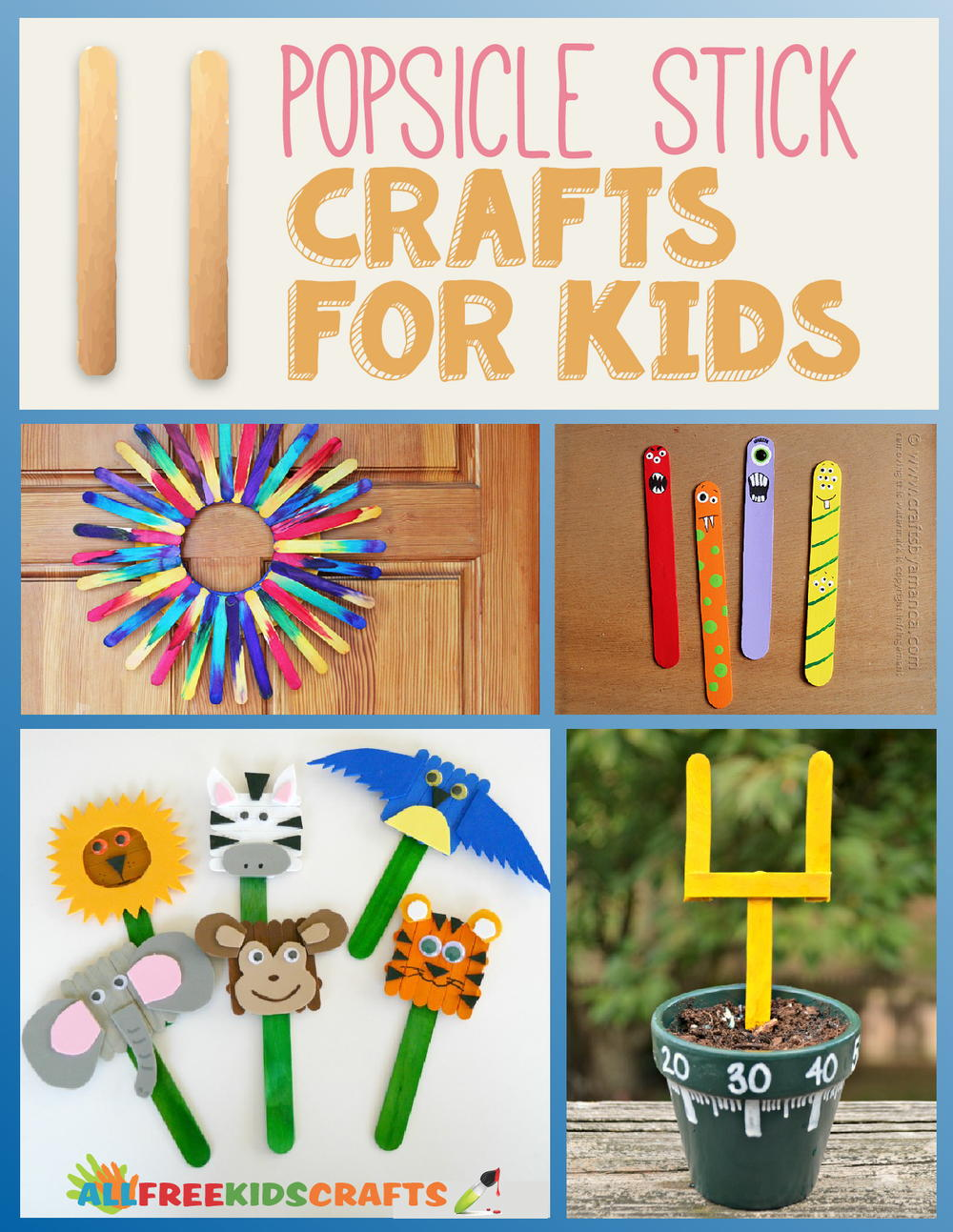 11 Popsicle Stick Crafts For Kids Allfreekidscrafts Com