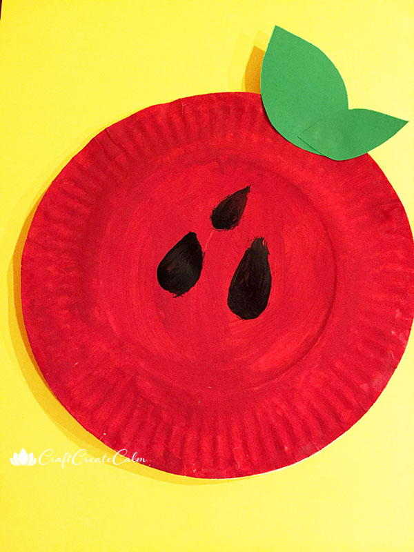 Paper Plate Apple Shaker Instrument Allfreekidscrafts Com
