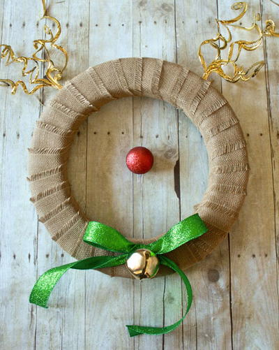 Adorable Rudolph DIY Wreath