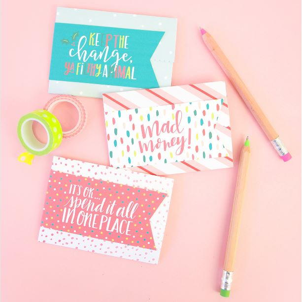 Diy Gift Card Holders With Free Printable Labels