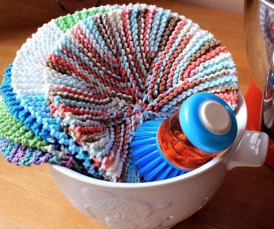 Crazy Eights Circular Dishcloth Allfreeknitting Com