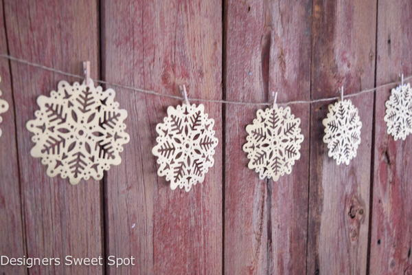 Gold Paper Snowflakes