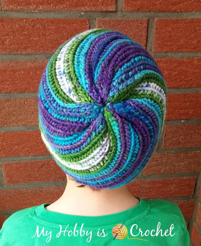 Free Pinwheel Crochet Baby Blanket Pattern : Pinwheel Beanie AllFreeCrochet.com