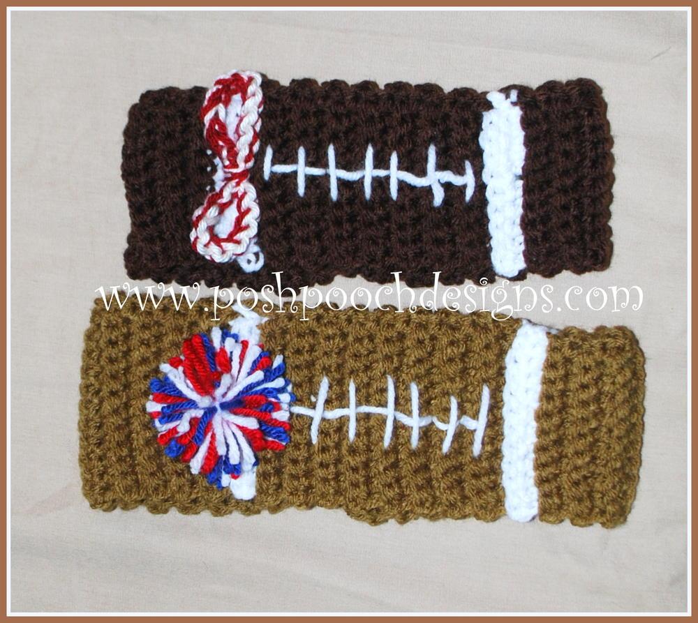 Football Headband Ear Warmer AllFreeCrochet.com
