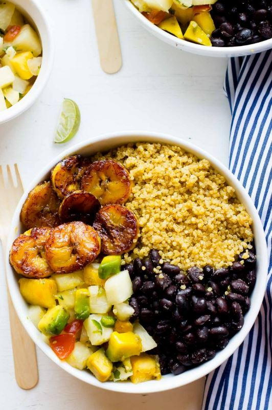 Cuban Quinoa Bowls With Pineapple Salsa Favehealthyrecipes Com