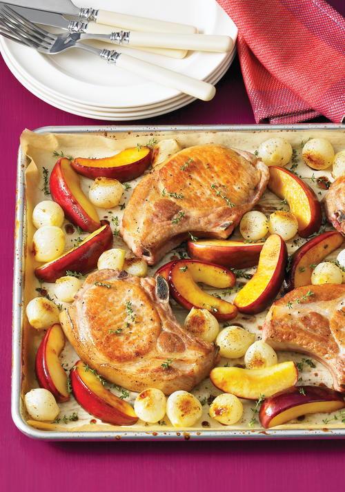 Crisp and Cozy Pork Chop Pan Dinner