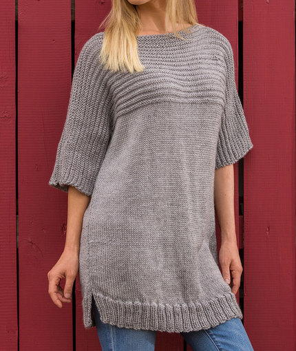 Free Knitting Patterns Alpaca Sweaters : Big Comfy Sweater AllFreeKnitting.com