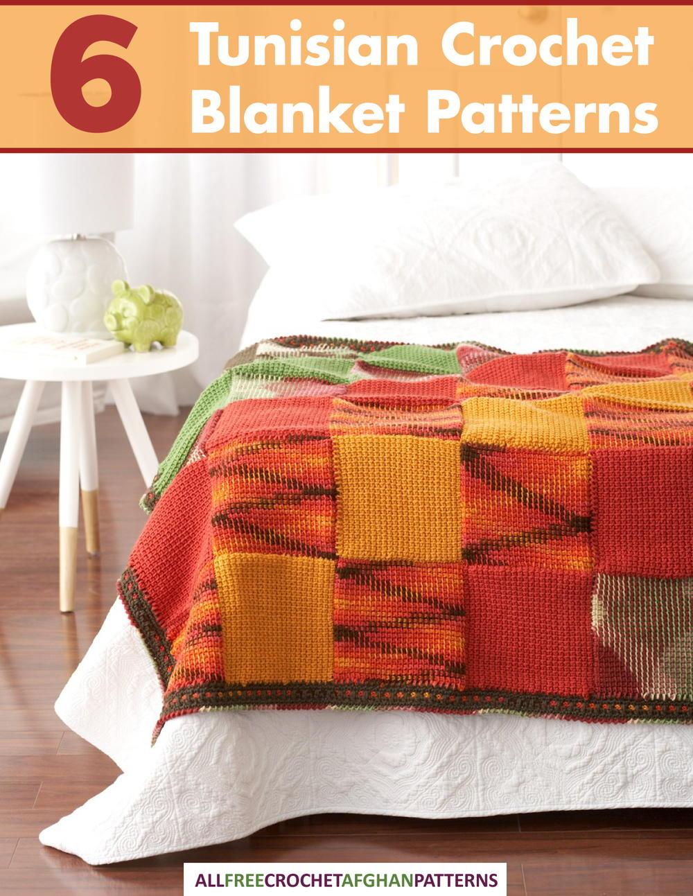 6 Tunisian Crochet Blanket Patterns Free Ebook Allfreecrochetafghanpatterns Com