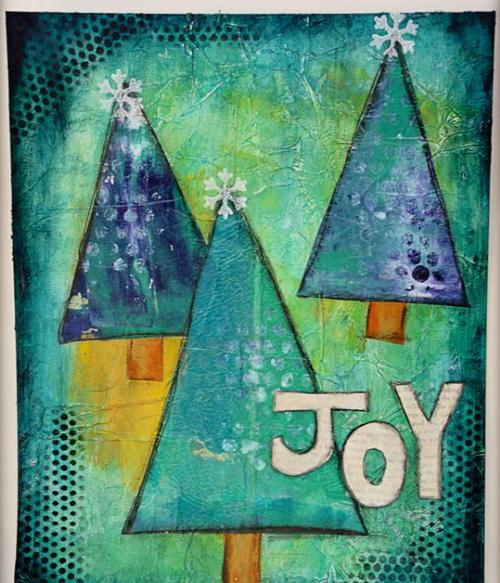 Wall Art Tree Diy : Joyful trees diy wall art favecrafts