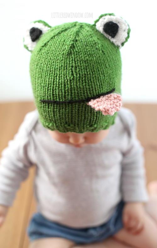 Funny Knitting Patterns : Funny frog hat allfreeknitting