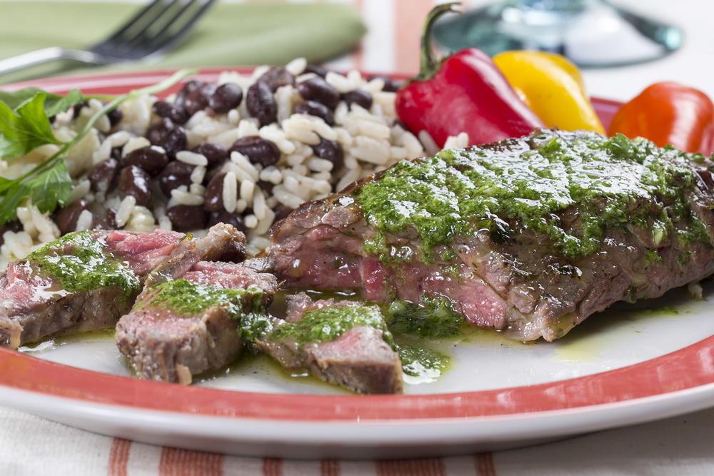 Steaks with Chimichurri (Churrasco) - Cafe Delites