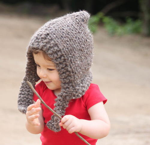 Spirit Hood Knitting Pattern : Childs Woodland Hood Pattern AllFreeKnitting.com