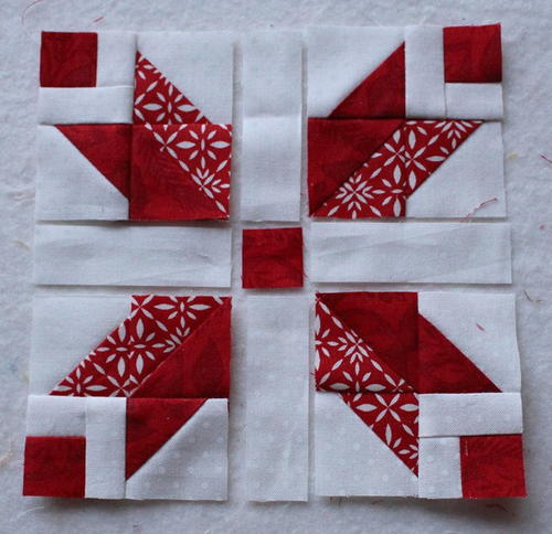 Scrappy christmas star block favequilts