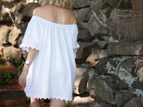 Off The Shoulder T-Shirt Dress
