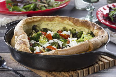 Broccoli n Feta Dutch Baby