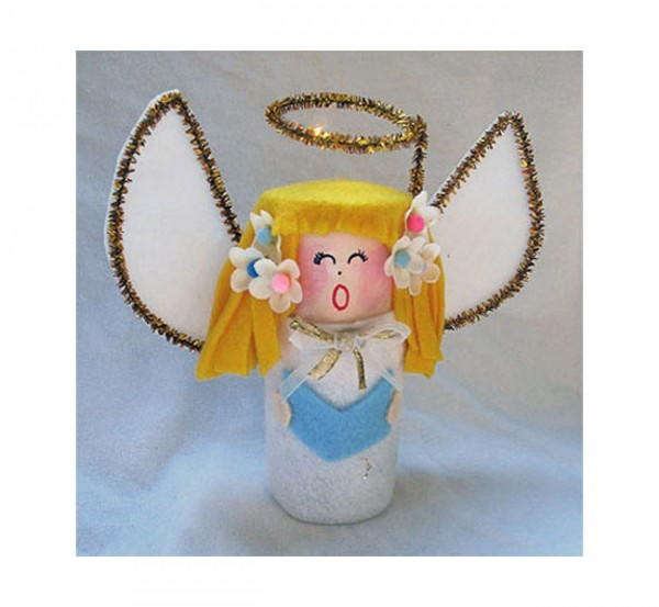 Singing Angel Toilet Paper Roll Craft
