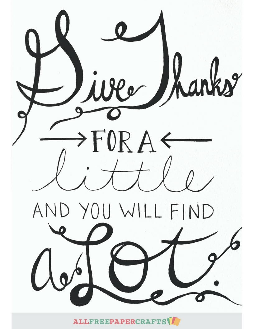 picture about Give Thanks Printable identified as Delivering Owing Cost-free Printables