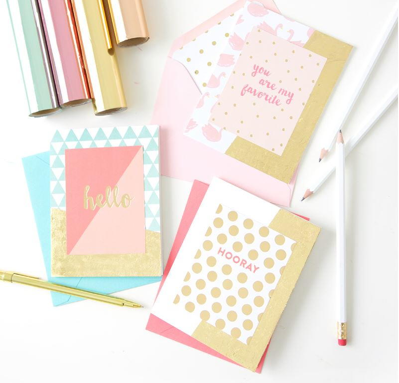 Foiled again card making ideas for Craft supplies for card making