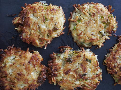 Root Vegetable Latkes | Cookstr.com