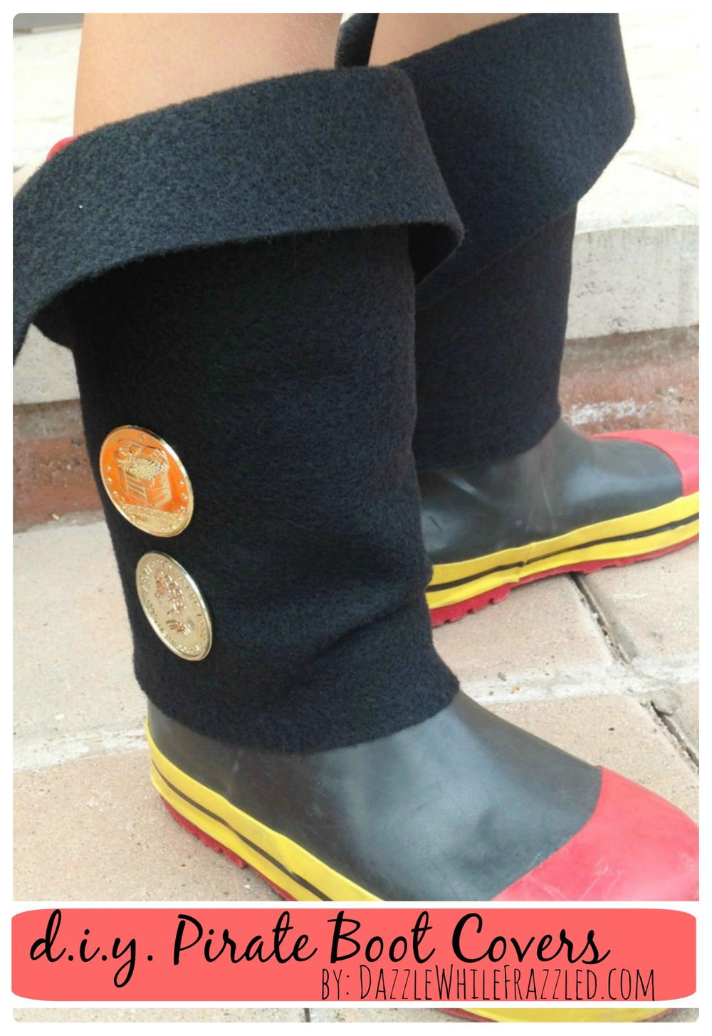 Diy Easy Kid Pirate Boot Covers Diyideacenter Com