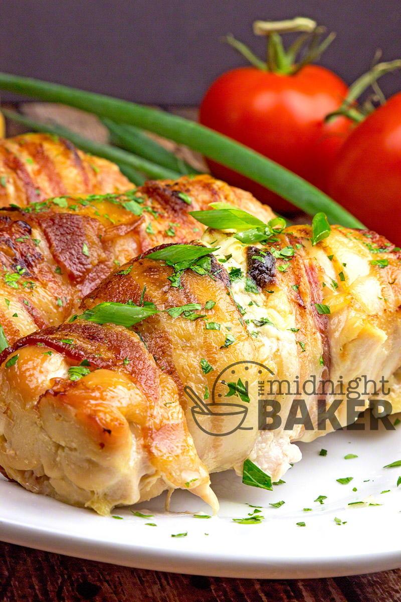 Veggie Cream Cheese Stuffed Chicken Breasts