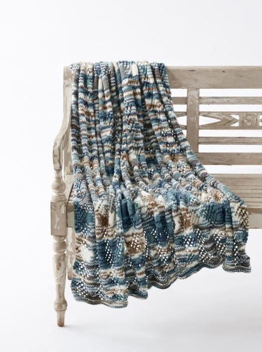 Seascape Lace Knit Blanket Pattern Allfreeknitting Com