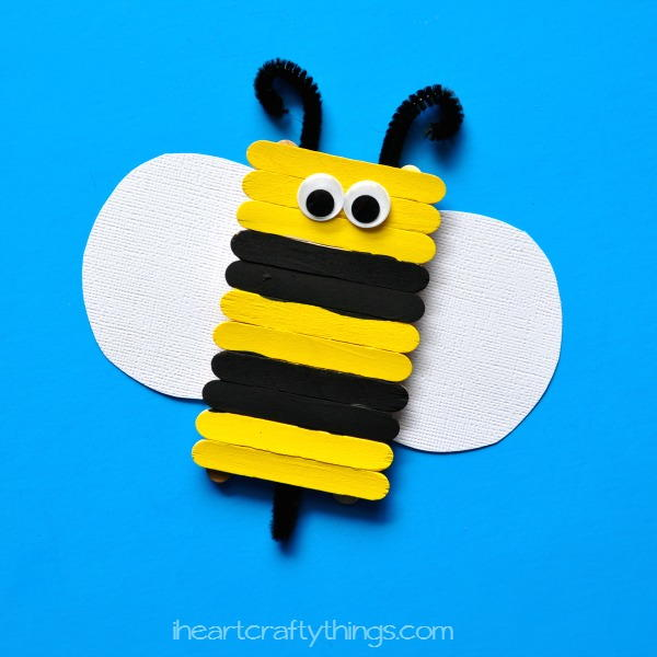 Popsicle Stick Busy Bee Craft