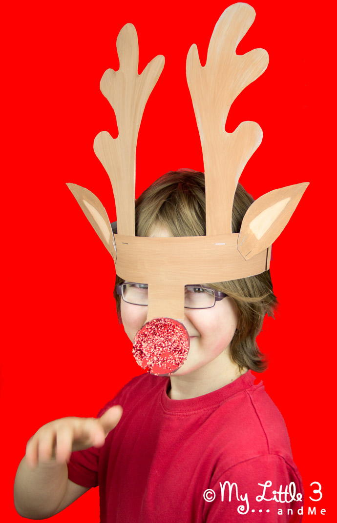 Magical Printable Reindeer Antler Template