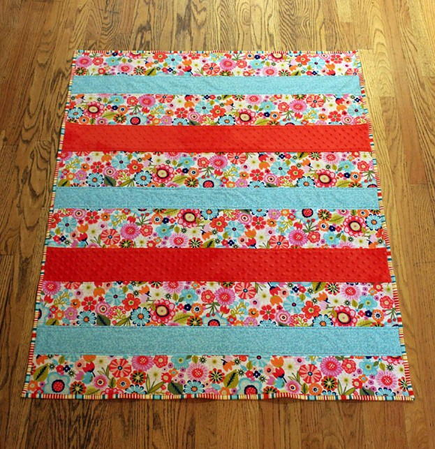 One Day Baby Quilt Tutorial Favequilts Com