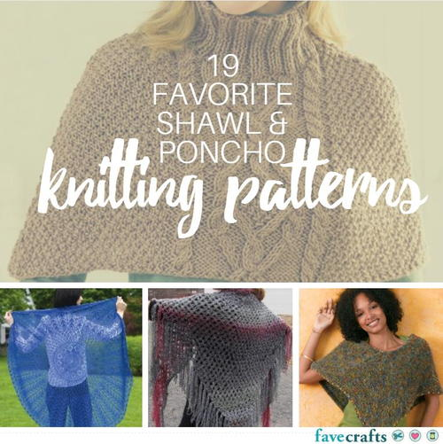 Knitting Patterns For Ponchos And Shawls : Favorite free shawl and poncho knitting patterns