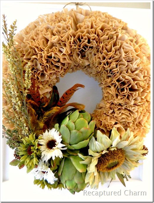 Fall Coffee Filter Wreath | AllFreeHolidayCrafts.com