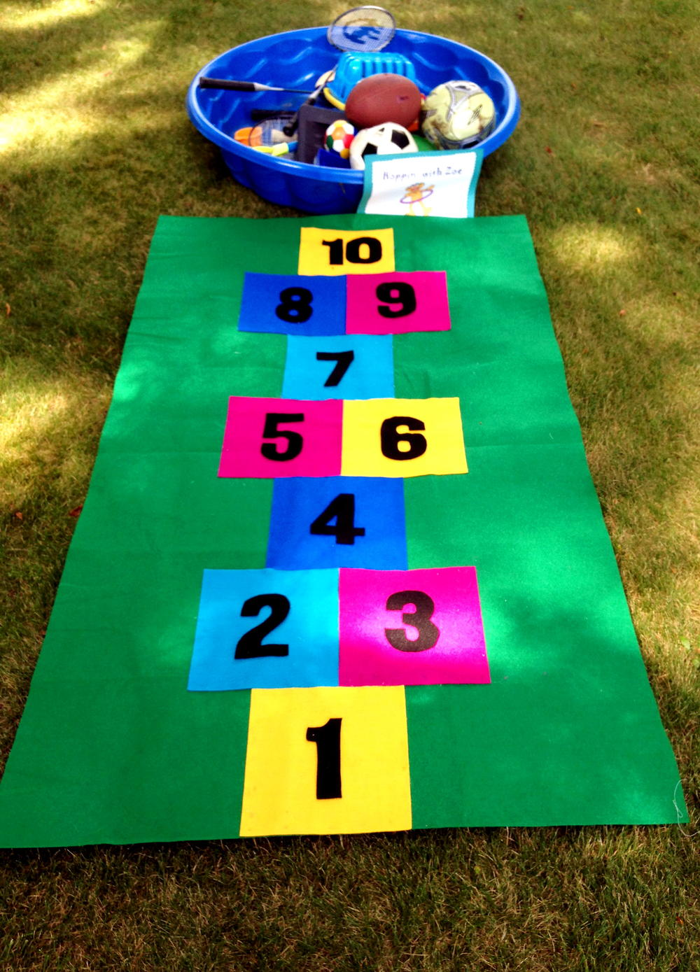 How To Make A Hopscotch Mat Diyideacenter Com